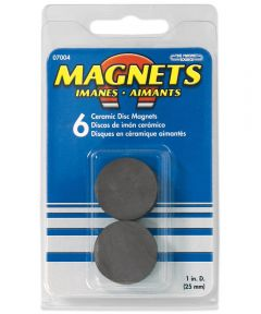 1 in. Ceramic Disc Magnets 6 Count
