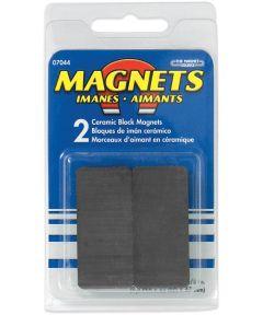 3/8 in. x 7/8 in. x 1-7/8 in. Ceramic Block Magnets 2 Count