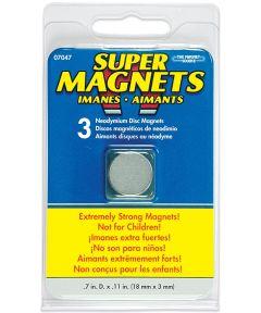 Neodymium Disc Magnets 3 Count