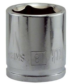 18MM x 3/8 in. Drive 6 Point Socket