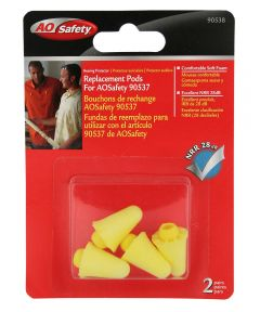 Replacement Hearing Protector Pods, 2 Pairs
