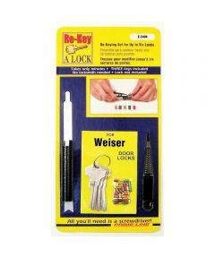 Re-Key A Lock Kit for Weiser Brand Locks, 5-Pin Tumbler Sets with Keys & Tools