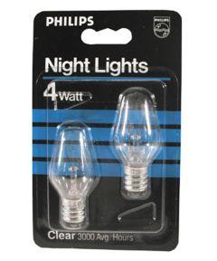 4 Watt Clear Night Light Bulbs 2 Count