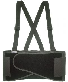 Heavy Duty Back Support Belt, Large, 38 - 47 in Waist, Black