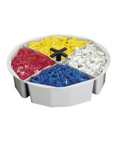 Tool Works Full Round Bucket Tray, Plastic, Gray
