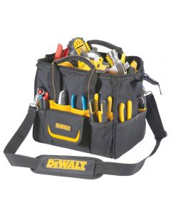 Tradesman Tool Bag, 12 in. (L), Ballistic Poly Fabric, Black/Yellow