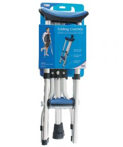 Blue Folding Crutches