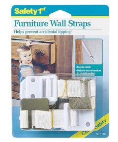 White Furniture Wall Straps 2 Count