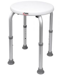 15.5 in.-20.5 in. Round Compact Shower Stool
