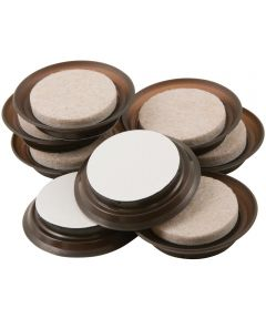1-1/2 in. Fuzz-Free Self-Stick Felt Sliders 8 Count