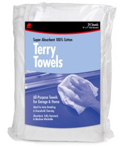 14 in. x 17 in. Terry Towels 24 Count