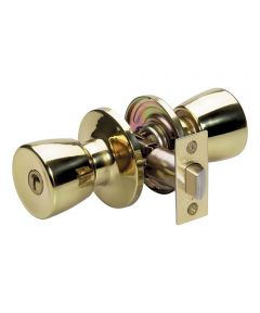 Master Lock Tulip Privacy Entry Door Knob, Polished Brass