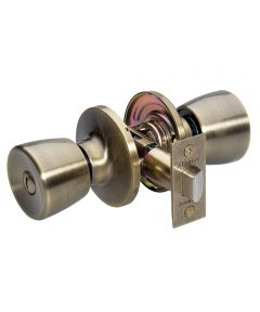 Master Lock Tulip Privacy Entry Door Knob, Antique Brass
