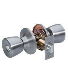 Master Lock Tulip Keyed Entry Door Knob, Satin Nickel