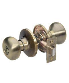 Master Lock Biscuit Privacy Entry Door Knob, Antique Brass