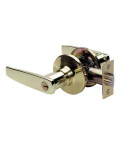 Master Lock Straight Keyed Entry Door Lever, Polished Brass