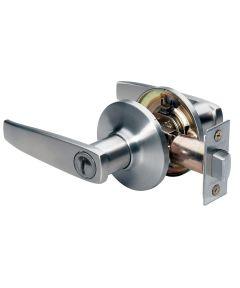 Master Lock Straight Privacy Entry Door Lever, Satin Nickel