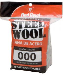 #000 Steel Wool 8 Pack