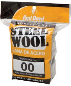#00 Steel Wool 8 Pack