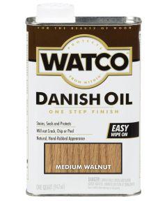 WATCO Danish Oil, Quart,  A65941- Mediun Walnut