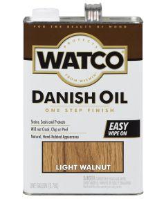 WATCO Danish Oil, 1 Gallon, Light Walnut