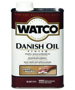 WATCO Danish Oil, Quart, Light Walnut