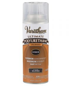 Varathane Ultimate Polyurethane Interior Oil Based Spray Paint, 11.25 oz., Clear Gloss