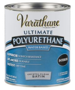 Varathane Crystal Clear Polyurethane, Quart, Satin