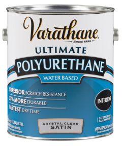 Varathane Crystal Clear Polyurethane, 1 Gallon, Satin