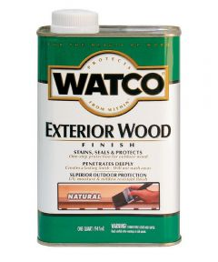 WATCO Exterior Wood Finish, Quart, Natural