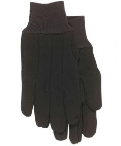 Large Brown Jersey Gloves