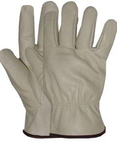 Large Standard Grade Grain Cowhide Leather Driver Gloves