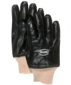 Jersey Lined PVC Gloves, Black