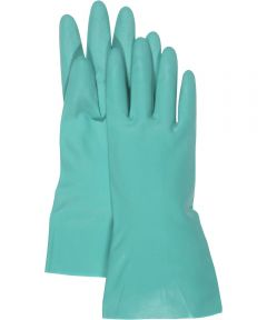 13 in. Large Green Nitrile Gloves