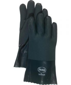Large RuffGrip Gauntlet PVC Coated Gloves