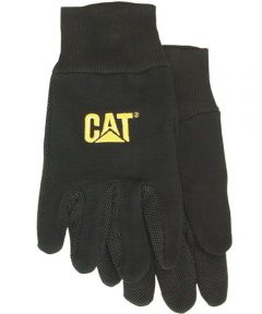 Large Black Jersey PVC Micro Dotted Palm Gloves