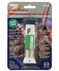 Lead Free Silver Braze Wire & Flux Kit