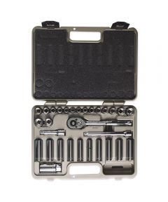 30 Piece 3/8 in. Drive 12 Point Standard & Deep SAE/Metric Mechanics Tool Set