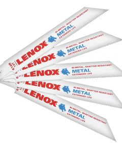 5 Pack 6 in. 14 TPI Metal Reciprocating Blades