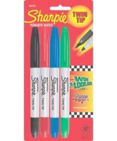Colors Twin Tip Markers Assorted 4 Count