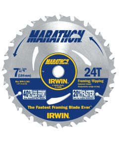 7-1/4 in. 24T Marathon Portable Corded Circular Saw Blade
