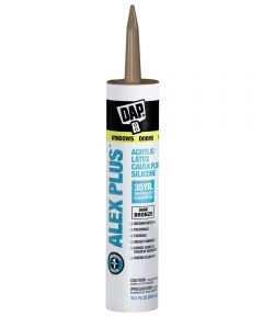 Alex Plus Bronze Acrylic Latex Caulk Plus Silicone, 10.1 oz.
