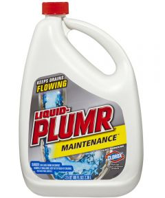 Liquid-Plumr Clog Remover, 80 oz Bottle, Clear Faint Yellow Thin Liquid