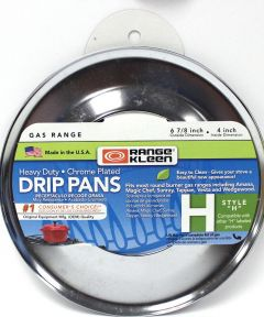 Round Chrome Gas Pan