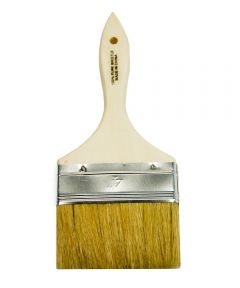 Paint Brush, 4 in. Wide 11/16 in. Thick Chip, Wood Handle