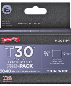 Staples, 3/8 Inch, T30, 5,000 Pack