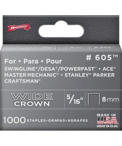 Staples, 600 Series, Wide Crown, 5/16 Inch