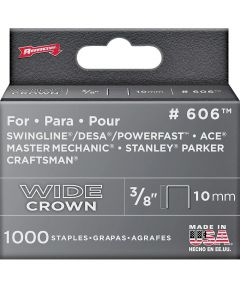 Flat Wide Heavy Duty Crown Staple, 1/2 in., 3/8 in. Leg