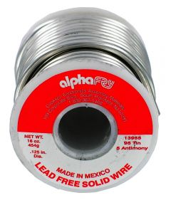 1 lb 95/5 Spool Lead-Free Solid Wire Solder