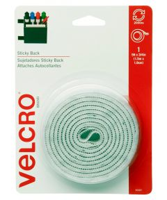 3/4 in. x 5 ft. White Sticky Back Tape